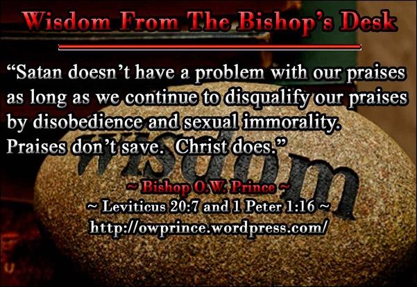 Wisdom praises dont save